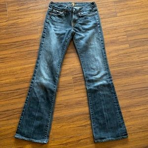 7 For All Mankind Distressed Boot Cut Jeans - 26